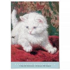 패브릭 포스터 F332 동물 그림 일러스트 액자 고양이 B
