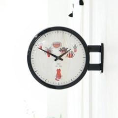Morden Double Clock Cat(BK)_(1942782)