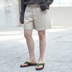 ECRU WIDE COTTON SHORT_CREAM