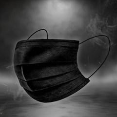 4중필터 멜트블로운 일회용마스크 50매(블랙)