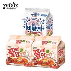 쫄비빔면130gX10개+비빔면 매운맛130gX5개_(2324073)