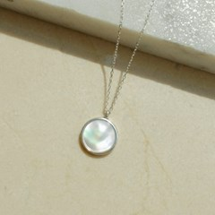 925silver Arin Marble SignaturenNecklace ( White Shell)