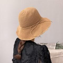 리본 밀짚 벙거지 라피아햇 플로피햇 여름 모자