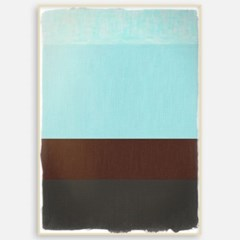 패브릭포스터 모던거실액자 인테리어 북유럽 그림 블루 브라운