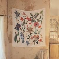 봄들꽃 드로잉 패브릭포스터