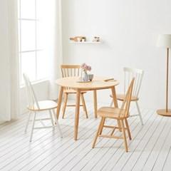 가구데코 스위트 내추럴 1000 원형 테이블+의자 4개 NE0141