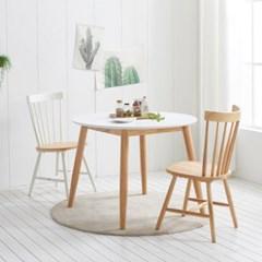가구데코 플랜 HPL 화이트 1000 원형 테이블+의자 2개 NE0159