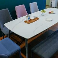 잉글랜더 몽블랑 통세라믹 6인용 식탁(벤치1+의자4)_(12748754)