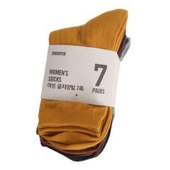 슈펜 여 골지 칼라양말 7팩 LGKB20A05_(242302)
