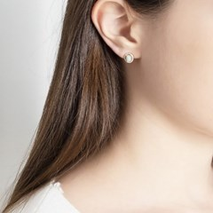 뷔즈 실버925 그린어벤츄린 천연 원석 귀걸이VE100