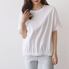 [모어댄베러]코튼셔링배색 티셔츠