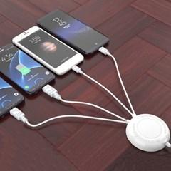팝폰 2.4A 고속 멀티 충전기 케이블 도난방지 분실방지 음식점