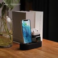 엘라고 아이폰 에어팟프로 애플워치 3IN1 충전스탠드