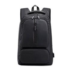 백팩 남여공용 USB 외부충전 15.6인치 노트북가방 블랙 MT105