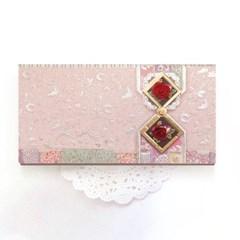 금은장미조각보봉투 FB225-4