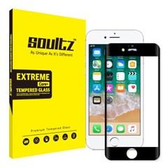 솔츠 아이폰 7+/8+ 풀커버 강화유리 방탄 액정보호필름