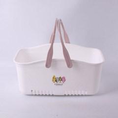 투톤 손잡이 목욕바구니 1개(색상랜덤)