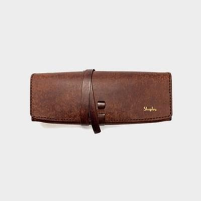 이태리 최고급가죽 가죽 펜슬케이스 (무료각인) [Pueblo Leather]