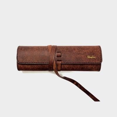 이태리 최고급가죽 스크롤 펜슬케이스 (무료각인) [Pueblo Leather]