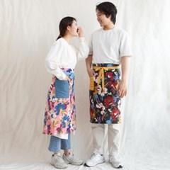 플라워 밀리터리 남녀공용 허리 앞치마 2colors