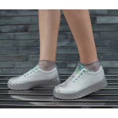 실리콘 방수 신발커버(250~270mm)(그레이)