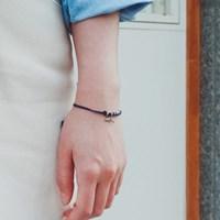 [기부팔찌] 925실버 네이비 매듭_고래꼬리 시리즈 #02