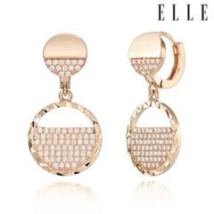 14K 큐빅 드롭 귀걸이 (gold pin) ELGPEE273_(990148)