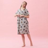 [디즈니정품] 여성잠옷 도날드 반팔 면다이마루 홈웨어 원피스 (2C)
