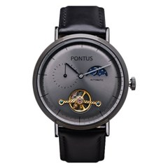 오토매틱시계 남성시계 가죽시계 손목시계 EY-7035A_(1338126)