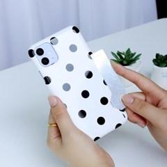 도트 패턴 카드스냅 3D 유광 하드케이스