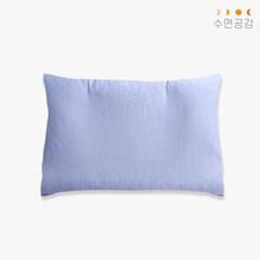 [수면공감] 우유베개 여름 쿨링 베개커버 블루