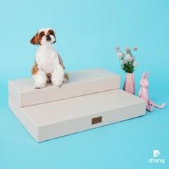 디팡 펫플레이 베이스포트2단 - 라이트 그레이 / 강아지계단
