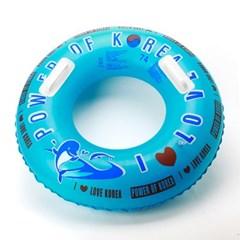 74cm 돌고래 안전손잡이 원형튜브/어린이 물놀이튜브