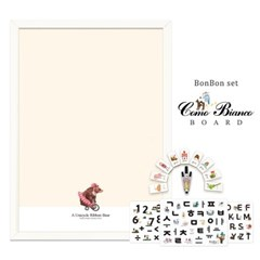 [꼬메모이]꼬모비앙코 리본베어 M 봉봉문자3종 세트 / 칠판 자석