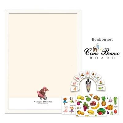 [꼬메모이]꼬모비앙코 리본베어 M 봉봉퍼즐3종 세트P2 / 칠판 자석