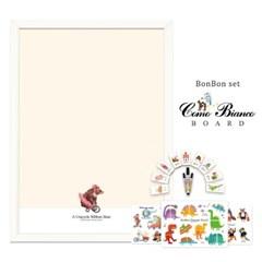[꼬메모이]꼬모비앙코 리본베어 M 봉봉퍼즐3종 세트P1 / 칠판 자석