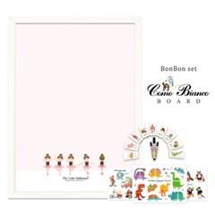 [꼬메모이]꼬모비앙코 리틀발레리나 M 봉봉퍼즐3종 세트P1 / 칠판