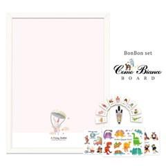 [꼬메모이]꼬모비앙코 토끼,날다 M 봉봉퍼즐3종 세트P1 / 칠판 자석
