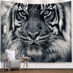 태피스트리 벽장식 패브릭포스터 - 화이트 타이거 (150x130cm)