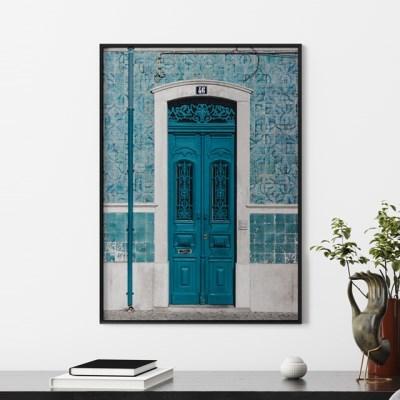 블루도어 감성 포스터 인테리어 그림 액자