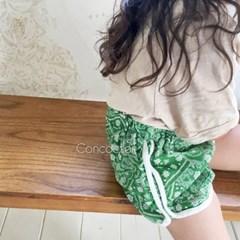 꽁)페이즐리 아동 반바지(스카프포함)