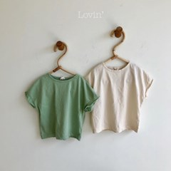 러)무지 아동 티셔츠