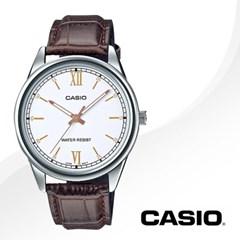 CASIO 카시오 MTP-V005L-7B3 남성시계 가죽밴드 손목시계