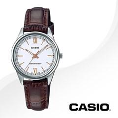 CASIO 카시오 LTP-V005L-7B3 여성시계 가죽밴드 손목시계