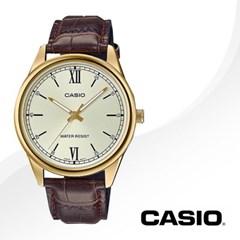 CASIO 카시오 MTP-V005GL-9B 남성시계 가죽밴드 손목시계
