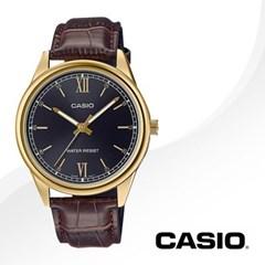 CASIO 카시오 MTP-V005GL-1B2 남성시계 가죽밴드 손목시계