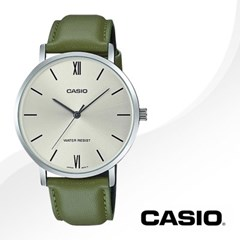 CASIO 카시오 MTP-VT01L-3B 남성시계 가죽밴드 손목시계