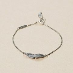 Silver Feather Charm Bracelet