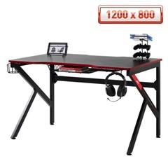 에이픽스 1인용 컴퓨터 게이밍 책상 GD001 1200L 1200800
