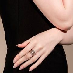 (아이즈원 민주,오지은,윤소이,문지인착용) Layers Ring